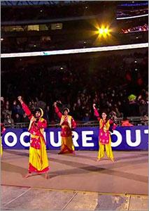 VP Bhangra performing at Wembley Stadium